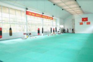 Một phần khu vực đào tạo vận động viên của Trung tâm Huấn luyện thể thao Đà Nẵng