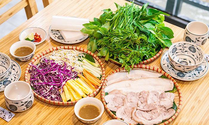 Bánh tráng cuốn thịt heo Đà Nẵng chuẩn vị