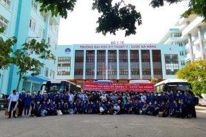 Cán bộ, sinh viên trường Đại học Kỹ thuật Y dược Đà Nẵng hỗ trợ các tỉnh thành phía Nam chống dịch Covid-19