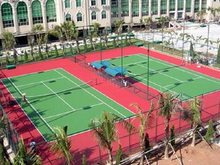 Một góc khu tập luyện của trường Đại học Thể dục thể thao Đà Nẵng