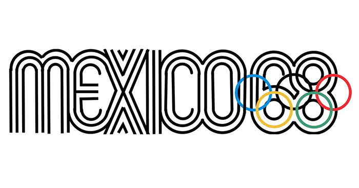 Logo đại hội thể dục thể thao Olympic Mexico 1968